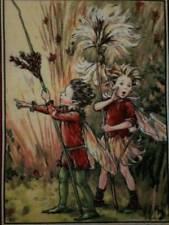 THE RUSH and COTTON GRASS FAIRY Christmas Fabric Panel, Quilt Block, Square
