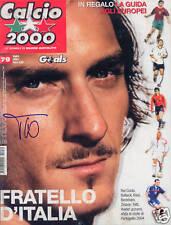 Francesco Totti Roma SIGNED Calcio 2000 Magazine COA!