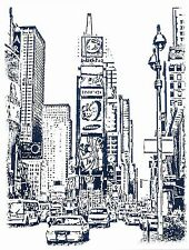 """Times Square New York  Rubber Rubber Cling Stamp  3"""" x 4"""" Free Shipping ~ NEW"""