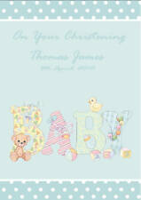 Personalised Christening Card - Boy Designs