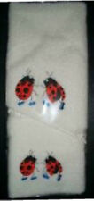 LADY BUG NO 2  HAND TOWEL & FACE WASHER SET - BRAND NEW