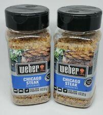 New Weber CHICAGO STEAK Seasoning Rub BBQ Gluten Free 8 Oz Lot of 2