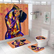 L 62 Randell Decor Shower Curtain Set Beautiful Afro African Woman in Turban Bathroom Accessories 26 W
