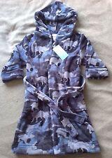 BNWT Boys Monsoon Blue Camo Robe Dressing Gown - Age 5-6 Years