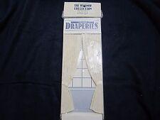 Miniature: tie-back draperies by d. Anne Ruff - 1:12 scale, NIp