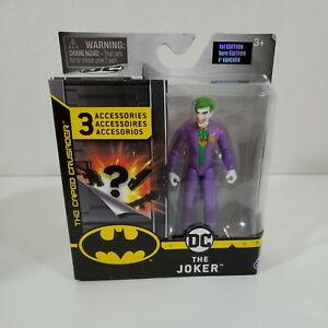 "DC The Joker 4"" Action Figures with 3 Mystery Accessories. New"