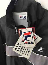 vintage deadstock NWT FILA windbreaker tennis jacket Men's Size Large Gray Tags