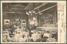 PAVIA SALICE TERME 07 INTERNO GRAND HOTEL - ALBERGO Cartolina viaggiata 1902