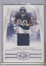 2007 Donruss Threads Andre Johnson game used jersey Houston Texans 25/250