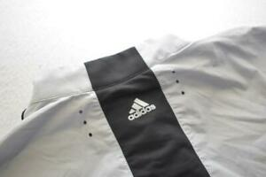 Adidas Windbreaker Golf Jacket ClimaProof Zip Neck Gray Short Sleeve Mens Sz XL