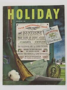 March 1951 - HOLIDAY - Hemingway , James Michener , Thurber , Alec Waugh , ads