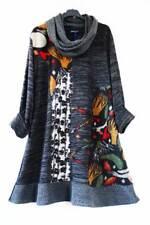 Superposé Tricot Tunique Pull Robe Loop CA 46 48 50 Anthracite coloré 80% laine