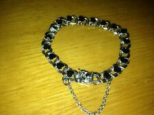 HUGE STERLING HEART SILVER BRACELET