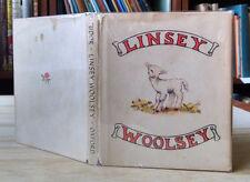 Tasha Tudor, LINSEY WOOLSEY, Calico Book, 1st Edition, HC/DJ, 1946