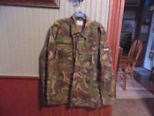VINTAGE MILITARY KL MARQUARDT+SCHULZ LS DUTCH ARMY WOODLAND CAMO SHIRT JACKET