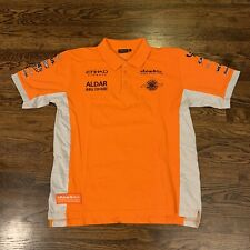 Spyker Formula One Team F1 Orange Polo Shirt Men's Size XL