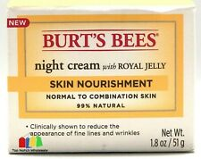 Burt's Bees Night Cream Royal Jelly Skin Nourishment Wrinkle Reducer 1.8 Oz.