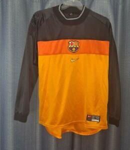 BARCELONA Nike Football Shirt 1999 2000 Vintage Goalkeeper Soccer Jersey Large L