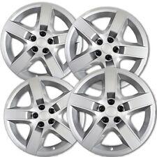"4 PC Hubcaps Fits Chevy Malibu 17"" Chrome ABS Snap On Replacement Wheel Rim Skin"