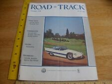 1956 Alpha Romeo Super-Flow Pinin Farina Plymouth Fury Road & Track magazine