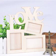 """""""Love"""" Weiße Holz Kunst Bilderrahmen Bildergalerie Collage Fotorahmen Rahmen F1"""