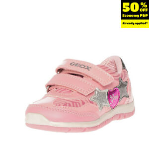 GEOX RESPIRA Kids Leather Sneakers EU 20 UK 3.5 US 4.5 Breathable Metallic