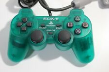 PlayStation 1 PS2 Original official Controller Clear green color SONY JAPAN F/S