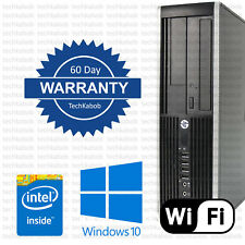 HP Desktop PC Computer Windows 10 Dual Core 8GB RAM 250GB WiFi WARRANTY