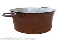 Antica Padella in Rame Paiolo Caldaio con manici inizio 900 Ancient Copper Pan