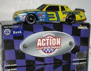 1984 Dale Earnhardt Sr #3 WRANGLER BLUE GOOSE 1/24 Black Window BANK CAR RARE