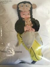 NEW Infant 0-6 months Monkey in a Banana Bunting Halloween Costume Underwraps