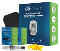 Blood Glucose Monitor Kit - Diabetic Kit w 100 Strips Lancets Lancing Device