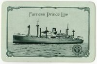 Playing Cards 1 Single Card Old FURNESS PRINCE LINE Shipping Advertising Art 2