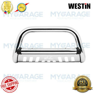 Westin For Automotive Stainless Steel Ultimate Bull Grille Guard Chrome 32-2270