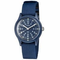 "Timex Womens Camper 29 mm Japan Limited Blue Dial Watch TW2T33800 - 6"" wrist"