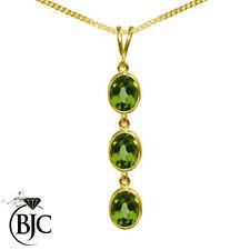Peridot Yellow Gold 18k Fine Necklaces & Pendants