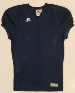 2 Count Russell Athletic Navy Football Jersey Lot - Cuff Sleeve Adult Large NWT