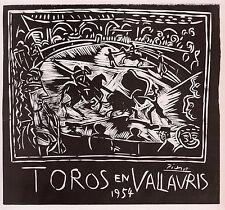 "Antique Pablo PICASSO Exhibition Poster ""Toros en Vallauris"" SIGNED Framed COA"