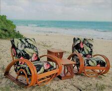 1950's Raindrop Bamboo Lounge Chairs-True Hawaiiana Own a piece a piece of true