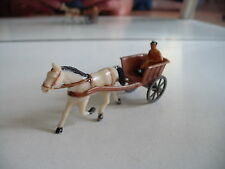 Plastic Siku Trailer with Horse + Driver in Brown/white (V430)