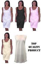 Ladies Full length slip petticoat underskirt size 12-32 various colours