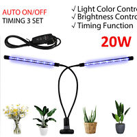 UK 20W LED Grow Light Lamp Full Spectrum Hydroponic Veg Flower Bloom Plant