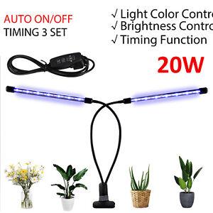 UK 20W LED Grow Light Lamp Full Spectrum Hydroponic Veg Flower Bloom Plant