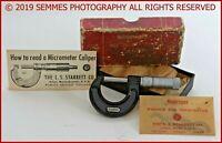 Starrett Micrometer Caliper #436-1 original box, Instructions & (2) wrench's