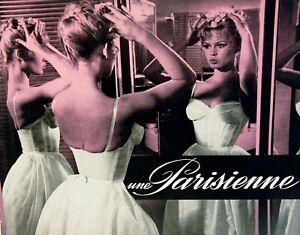 UNE PARISIENNE - 1957 - M.J.BOISROND - B.BARDOT - Dr Presse de LUXE  24 X 30 cm