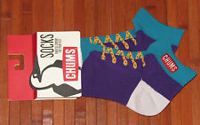 NWT CHUMS Atmos Sneaker Socks Cushioned Low Cut Made In Japan Multicolor-S