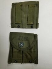 US GI WWII M1 CARBINE O.D. BELT POUCH MARKED AVERY 1945 DATED