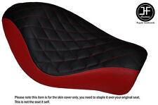 BLACK D RED VINYL DIAMOND CUSTOM FITS HARLEY SPORTSTER IRON 883 SOLO SEAT COVER