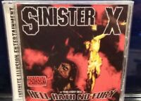 Sinister X - Hell Hath No Fury CD horrorcore Castro the savage q strange ii rel