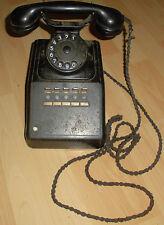 Telefono alt antico tavolo dispositivo Siemens tasti fili BACHELITE 124 a3 Top Decorazione